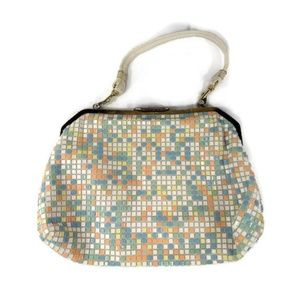 Vintage Pixel Pixelated Handbag Purse